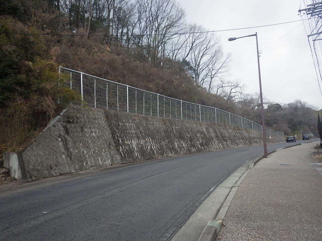 可児市役所 市道126号線落石防護柵設置工事